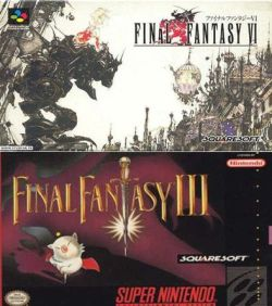Box art, from FF6 (top) and FF3 (bottom).