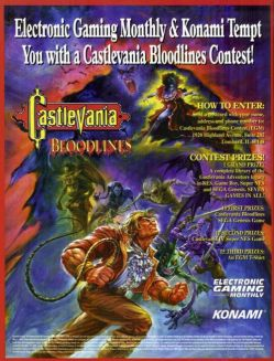 Castlevania Bloodlines - Ad Copy - SHRINK