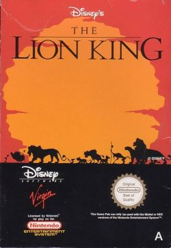 Lion King - NES - Box Art