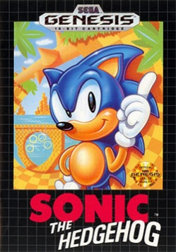 Sonic 1 - Genesis - Box Art